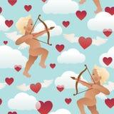 Ангел купидона при лук и стрелы направляя на кто-то сердце ` s Стоковые Изображения