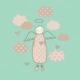 Ангел на облаке Стоковые Изображения