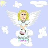 Ангел пасхи иллюстрация вектора