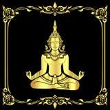 ангел размышляя в золоте Стоковые Изображения