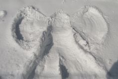 Ангел снега Стоковые Фото