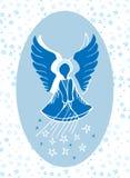 Ангел-хранитель даруя звезды сверху стоковое изображение rf