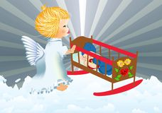 Ангел-хранитель иллюстрация штока