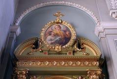 Ангел-хранитель, altarpiece в базилике священного сердца Иисуса в Загребе стоковая фотография rf