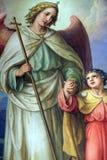 Ангел-хранитель, altarpiece в базилике священного сердца Иисуса в Загребе стоковые фотографии rf