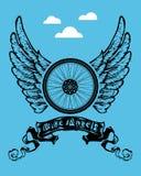Ангелы велосипеда иллюстрация вектора