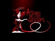 Ангелы и грешники стоковое фото rf