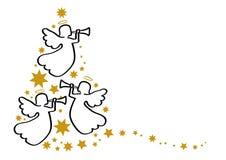 Ангелы поздравительной открытки иллюстрация вектора