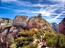 Ангелы приземляясь в национальный парк Сиона, Юту Стоковые Изображения