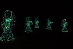Ангелы рождества на черной предпосылке Справочная информация Стоковая Фотография