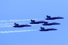Ангелы Airshow Американского флота голубые Стоковая Фотография