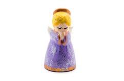 Ангел Figurine моля для рождественской елки Стоковые Фото