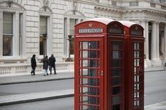 Английская будочка телефона Стоковая Фотография RF
