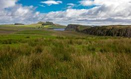 Английская сельская местность около стены Hadrian стоковая фотография rf