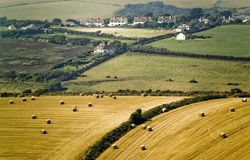 английская язык сельской местности Стоковое Фото