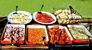 английская язык шведского стола завтрака Стоковое Изображение RF