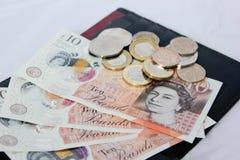 Английские деньги и монетки Стоковая Фотография
