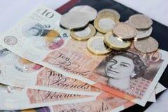 Английские деньги и монетки Стоковые Фотографии RF