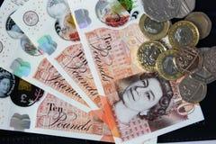Английские деньги и монетки Стоковое Изображение RF
