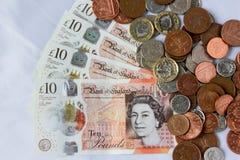 Английские деньги и монетки Стоковые Изображения RF