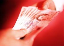 английские деньги Стоковая Фотография RF