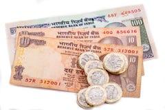 Английские фунты и индийская рупия Стоковое Изображение