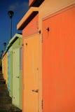 Английские хаты пляжа Стоковая Фотография RF