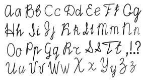 Английский алфавит в словах Uppercase и строчные буквы иллюстрация вектора