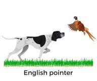 Английский вектор указателя иллюстрация вектора