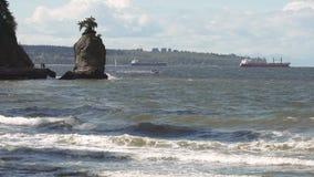 Английский залив, утес Siwash, Ванкувер 4K UHD сток-видео