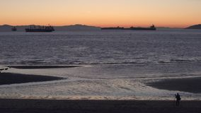 Английский заход солнца залива, Ванкувер 4K UHD видеоматериал