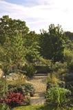 Английский сад страны стоковые фотографии rf