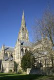 английский собор salisbury Стоковое Фото