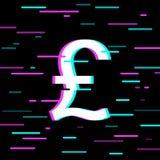 Английский фунт подписывает внутри стиль небольшого затруднения иллюстрация штока