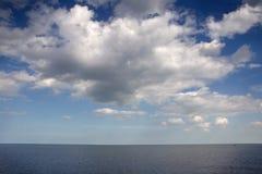 Английский seascape смотря вне на море Стоковое Фото