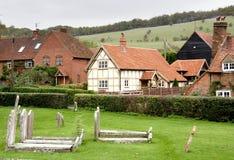 английское привлекательно старомодный село Стоковое Изображение RF