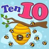 Английское число 10 иллюстрация вектора