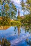 Англиканская церковь St alban copenhagen Дания стоковые изображения rf