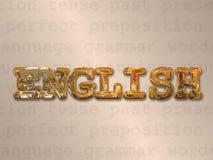 Английская концепция Стоковая Фотография