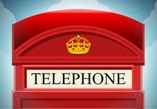 Английская красная кабина телефона Стоковые Изображения