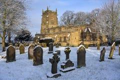 Английская приходская церковь - северный Йоркшир - Англия Стоковые Изображения