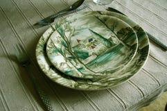 Английские блюда шестидесятых годов Стоковые Изображения
