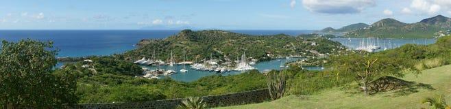 Английские гавань и верфь Nelsons, Антигуа и Барбуда, Кариб стоковые фотографии rf