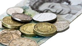 английские деньги Стоковая Фотография