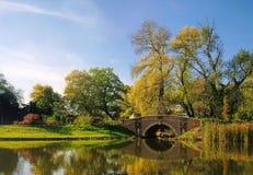 Английские земли Woerlitz Friederikenbridge Стоковые Изображения