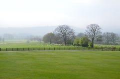 Английские поле и обрабатываемая земля Стоковое Изображение