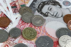 Английские фунты денег стоковые фото