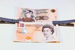 Английские фунты фунтов Scottish Стоковые Фото