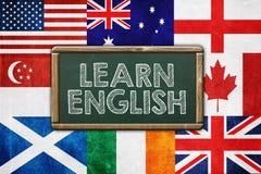 английские языки учат стоковые фото