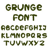 Английский алфавит в стиле grunge Стоковое фото RF